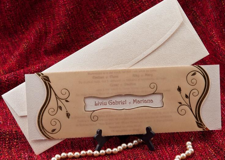 invitatii nunta de la http://www.invitatii-nunta-mea.ro/  modele de invitatii de nunta, invitatii pentru botez, marturi, plicuri bani, carduri de masa
