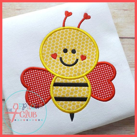 Bee Mine Valentines Day Applique Shirt on Etsy, $18.00