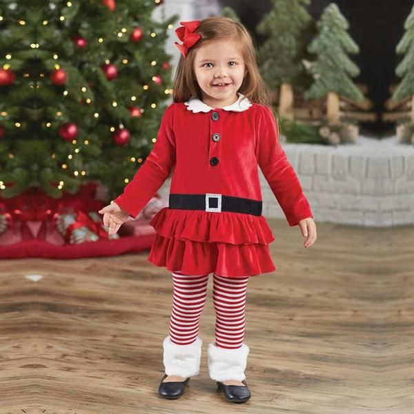 8044e4adca345 Christmas girls outfits Clothing Sets   Fancy Christmas children ...