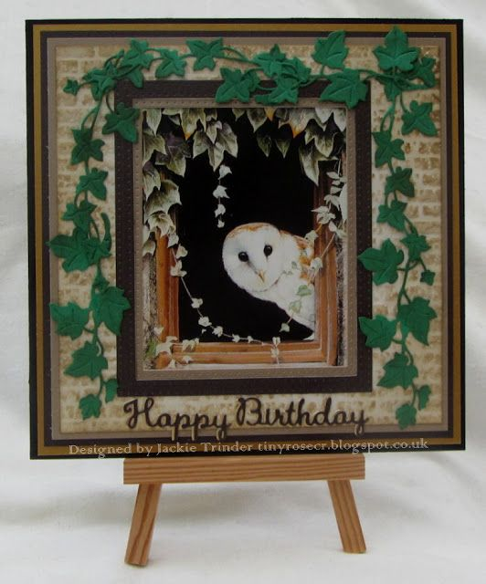 Tinyrose's Craft Room: Moving Along with the Times - A Card for a Man made with an image by Pollyanna Pickering and die designed by Sue Wilson for Creative Expressions