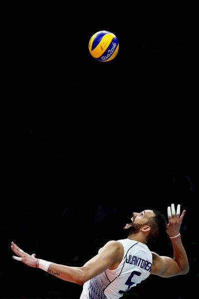 Osmany Juantorena Photos - Osmany Juantorena #5 of Italy in action during the men's qualifying volleyball match between the United States and Italy on Day 4 of the Rio 2016 Olympic Games at the Maracanazinho on August 9, 2016 in Rio de Janeiro, Brazil. - Volleyball - Olympics: Day 4