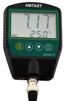 Waterproof Lab pH/mV/Temp Meter AMT16 Serials