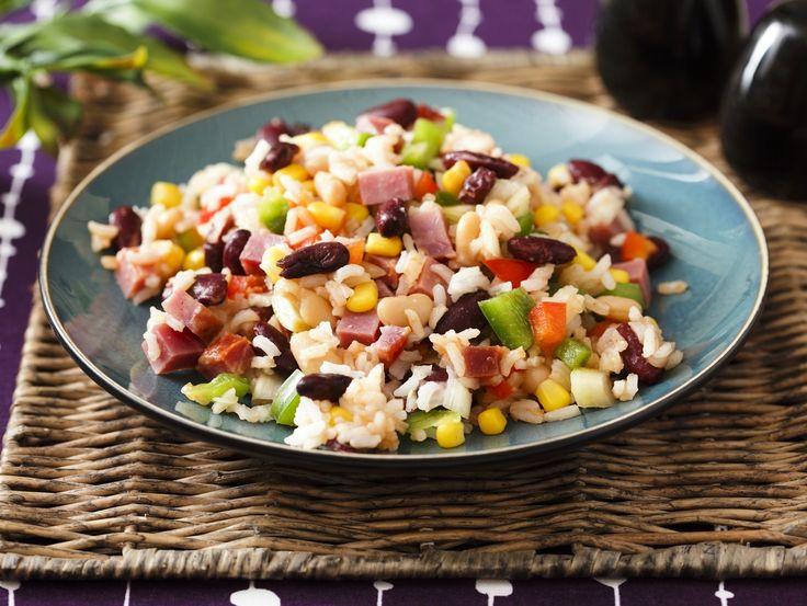 Bunter Reissalat mit Schinken - smarter - Kalorien: 528 Kcal - Zeit: 40 Min. | eatsmarter.de Auch als Salat schmeckt Reis sehr gut.