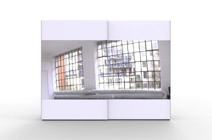 STORE 270 szafa ubraniowa biała z drzwiami przesuwnymi