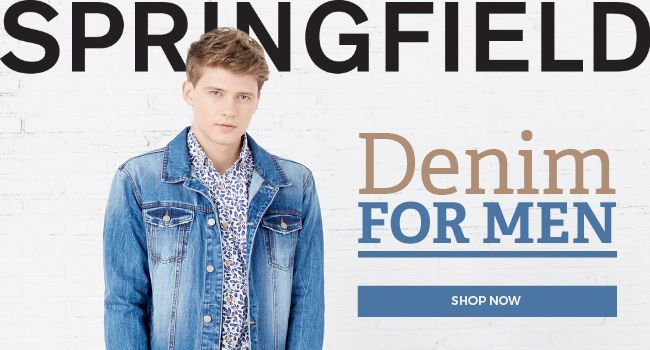 Shop Springfield's new collection for Men and Women: jeans, jackets, shirts, trousers, dresses, shoes, accessories and more!