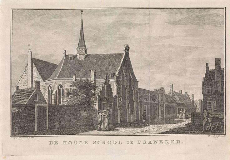 Gezicht op universiteit te Franeker, Dirk de Jong, 1786