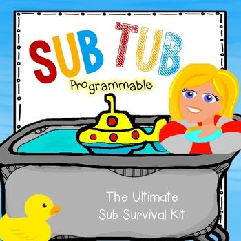 This set contains everything you need to make a marvelous sub tub. And, it is completely programmable in PowerPoint. I have provided: Sub Tub Label Sub Binder cover page and Spine Label I included dividers and pages for each section of your sub binder: