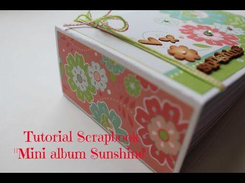 Mini album scrapbooking desplegable - tutorial fácil y rápido. - YouTube