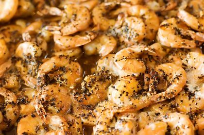 The Pioneer Woman's Spicy Shrimp - this recipe is very similar to something my family has made for years.  It is easy, quick and delicious.... and don't forget the soft french bread for sopping up the juices!  YUM!