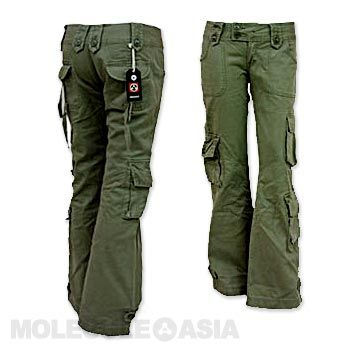Awesome Horace Small Cargo Pants  Womens  Earth Green  FullSourcecom
