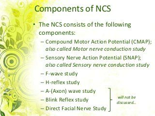 Nerve conduction study