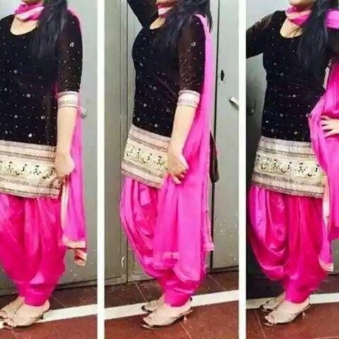 velvet black nd pink suit..***