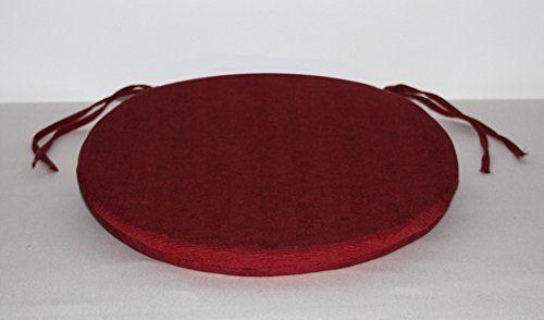 Arketicom Pacco da 4 Cuscini Artigianali Per Sedie Rotondi Con Lacci Antiscivolo Misto Cotone Poliestere Colore Marrone diam. 35X3 (cuscino quadrato sedia casa cucina giardino): Amazon.it: Casa e cucina