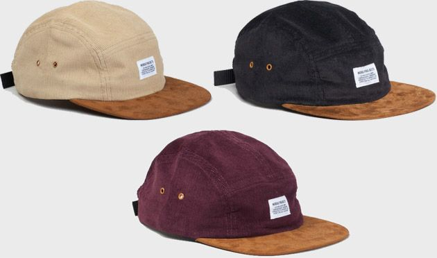 Czapki 5 panel Norse Projects-Corduroy-Suede