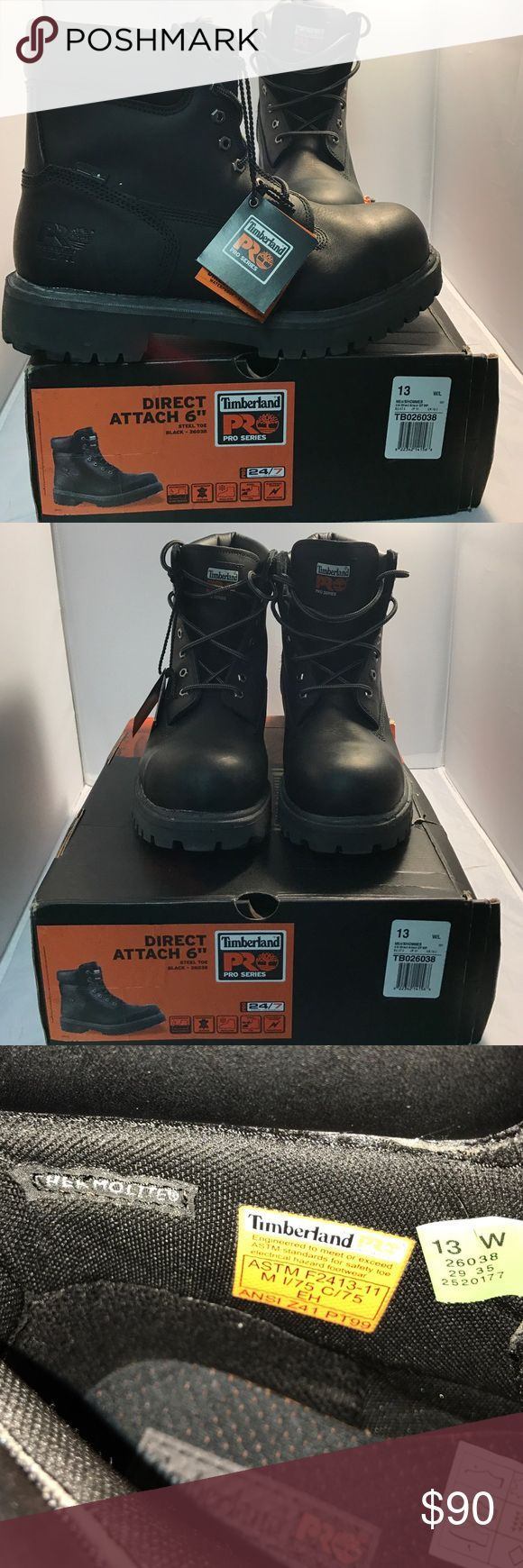 NWT Timberland Pro Series in black size 13 NWT and box Timberland Pro Series in black. Waterproof, insulated, steal toe and electrical hazard protection. Retails over $129. Timberland Shoes Boots