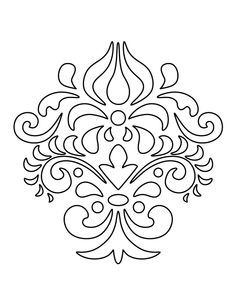 Damask pattern. Use the printable outline for crafts, creating stencils, scrapbooking, and more. Free PDF template to download and print at http://patternuniverse.com/download/damask-pattern/