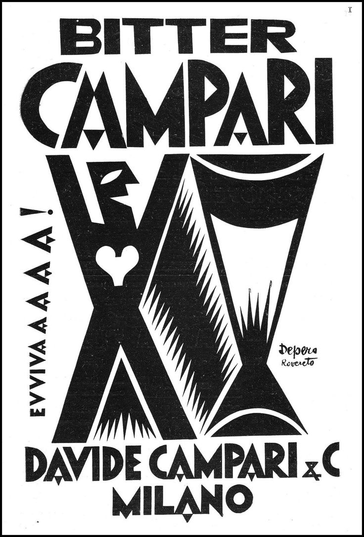 ADVERTISING 'BITTER CAMPARI LUCKY DEPERO ROVERETO