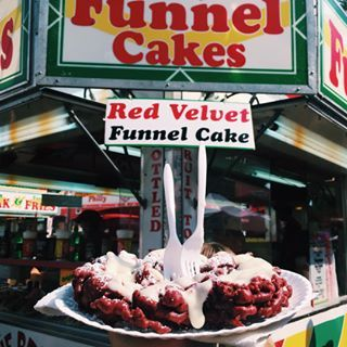 Red Velvet Funnel Cake | 26 Next-Level State Fair Foods You'll Want To Eat Right Now