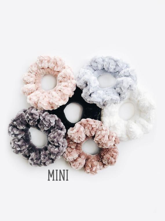 Mini scrunchies scrunchie scrunchie velvet scrunchies mini velvet scrunchie