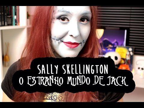 Maquiagem para o Halloween: Tutorial Sally Skellington de O Estranho Mundo de Jack - Livros de Romance