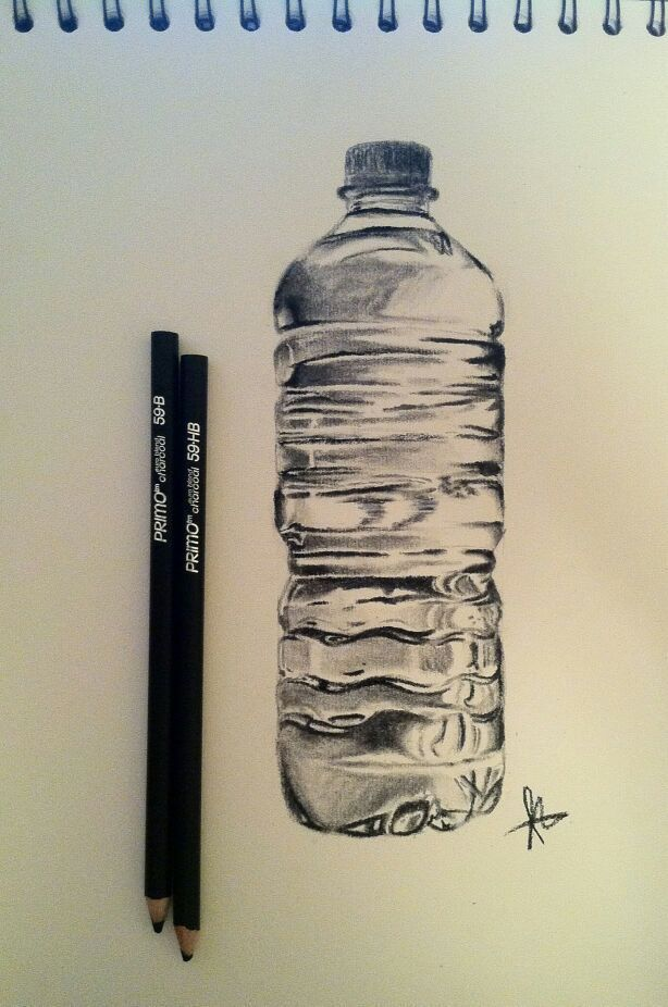 Image result for water bottle pencil drawings – drawing