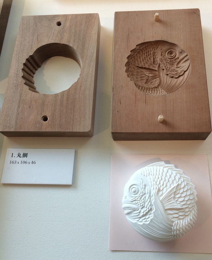 Fish, small and round 和菓子木型
