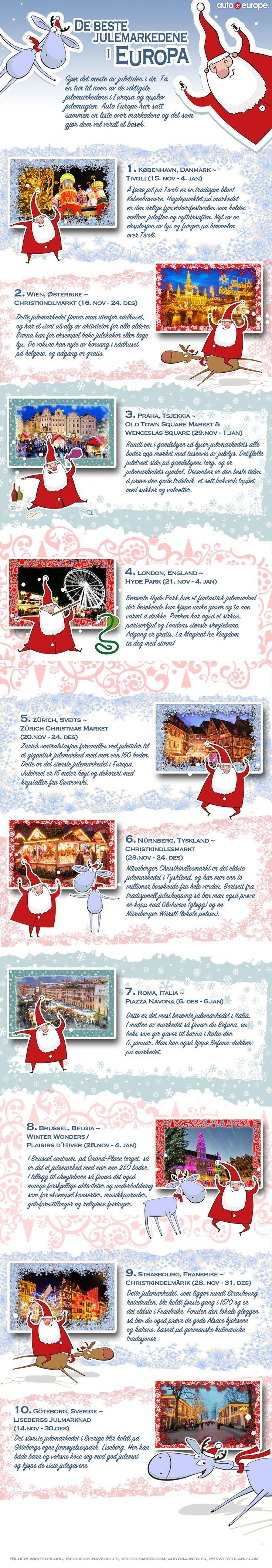 Infographic: De beste julemarkedene i Europa - Få mer info om våre infographics her: http://www.autoeurope.no/go/infographics/