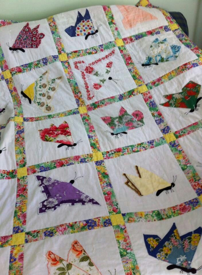 Hankie Quilt Quilts Pinterest Butterfly Quilt