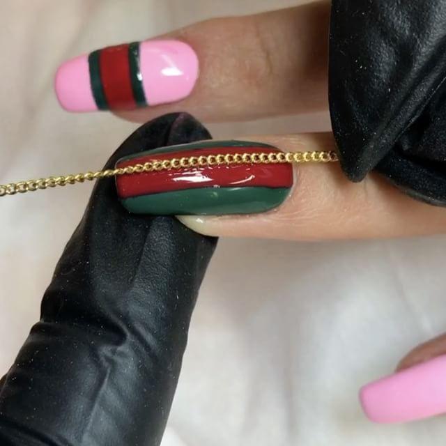Gucci Nails  #Gucci #guccinails #guccinail #follownailsunny #nailsunny #nailsunnytutorial