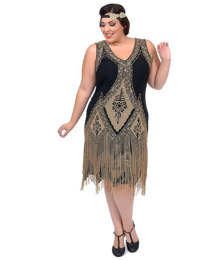 Plus flapper dress picture