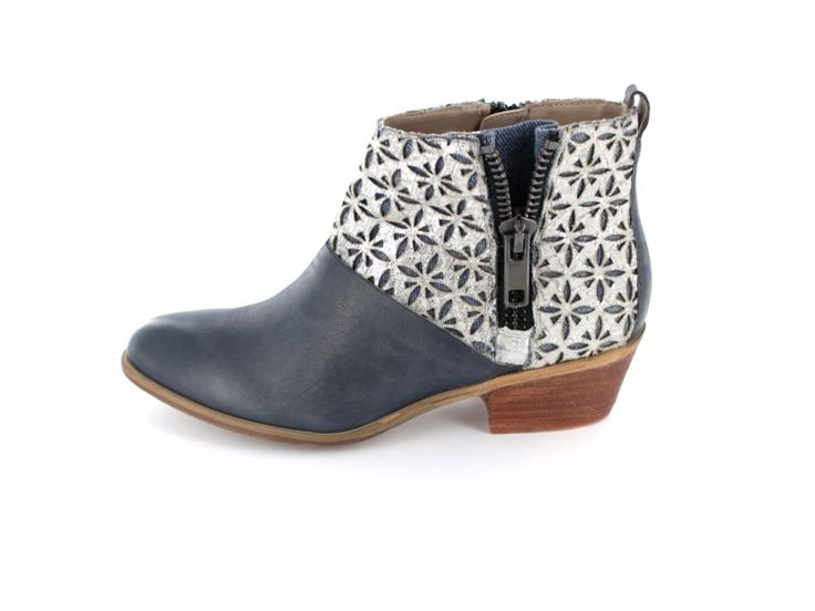 SPM Calais - Damen Ankle Boot mit Metallic-Schaft