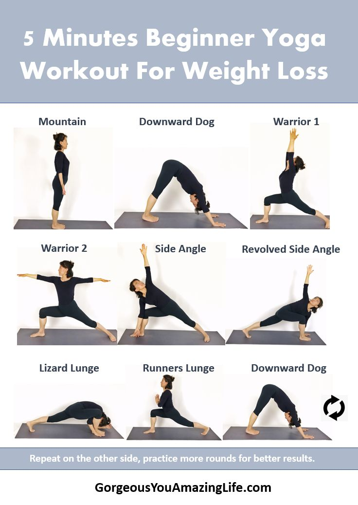 5 minutes beginner yoga workout for weight loss – Yoga