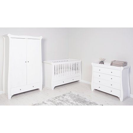 George Home Jessica Nursery Furniture Range - White