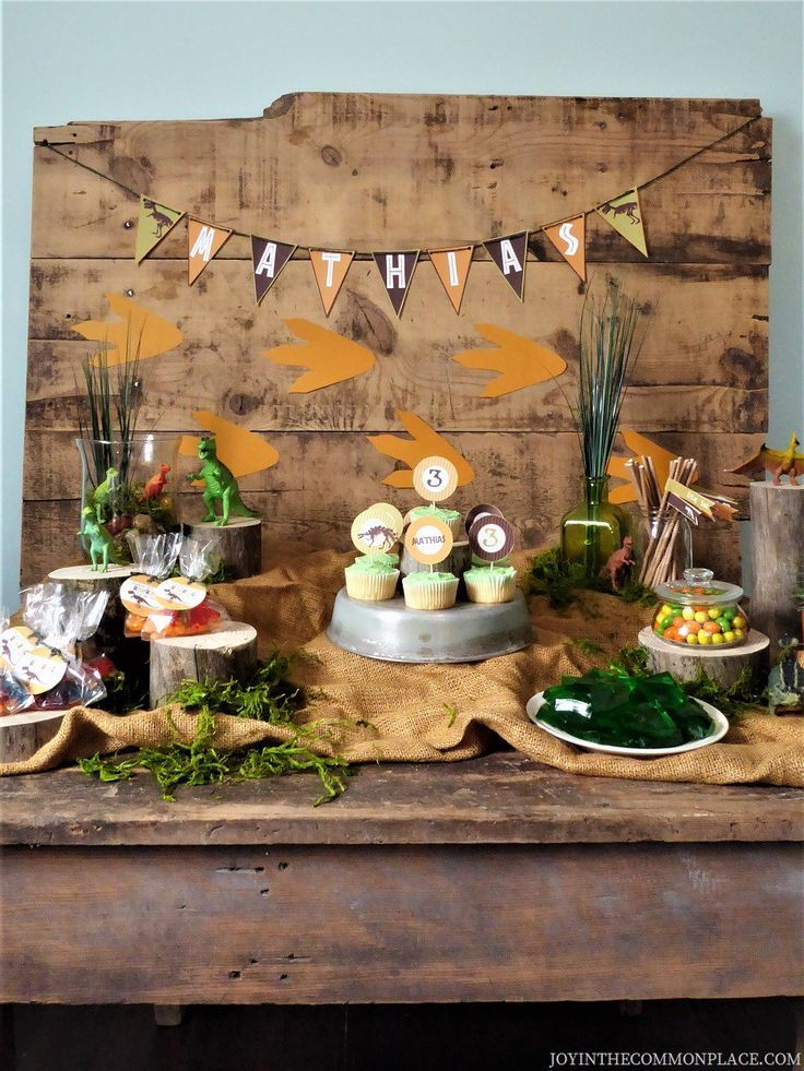 Throw A Rustic Dinosaur Birthday Party For Kids Dinosaur Birthday Party Dinosaur Birthday Party Decorations Rustic Birthday Parties