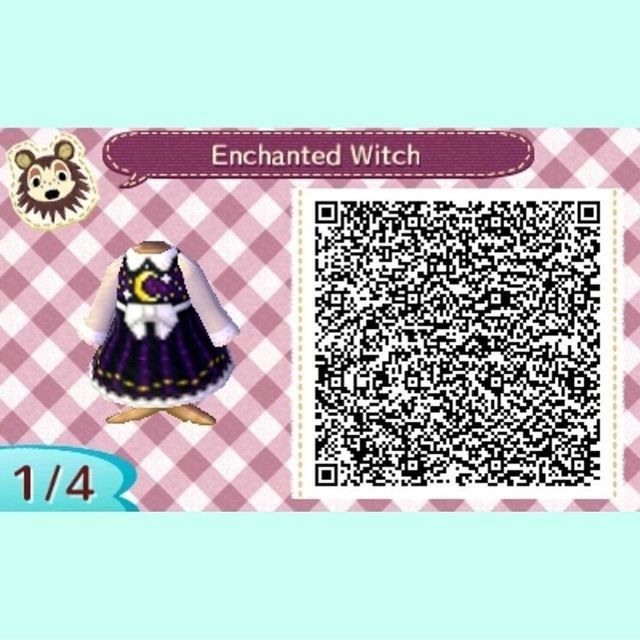 Outfit Acnl Witch 1 Animal Crossing Qr Animal Crossing 3ds