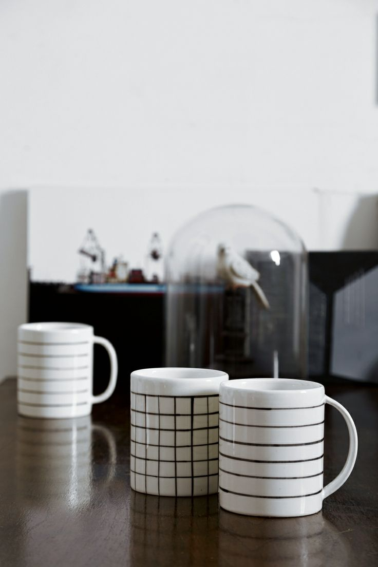 Mug quadretti e righe / ceramica