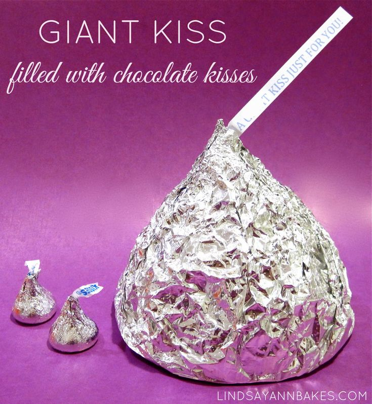Giant Chocolate Kiss (made of Hershey's Kisses)