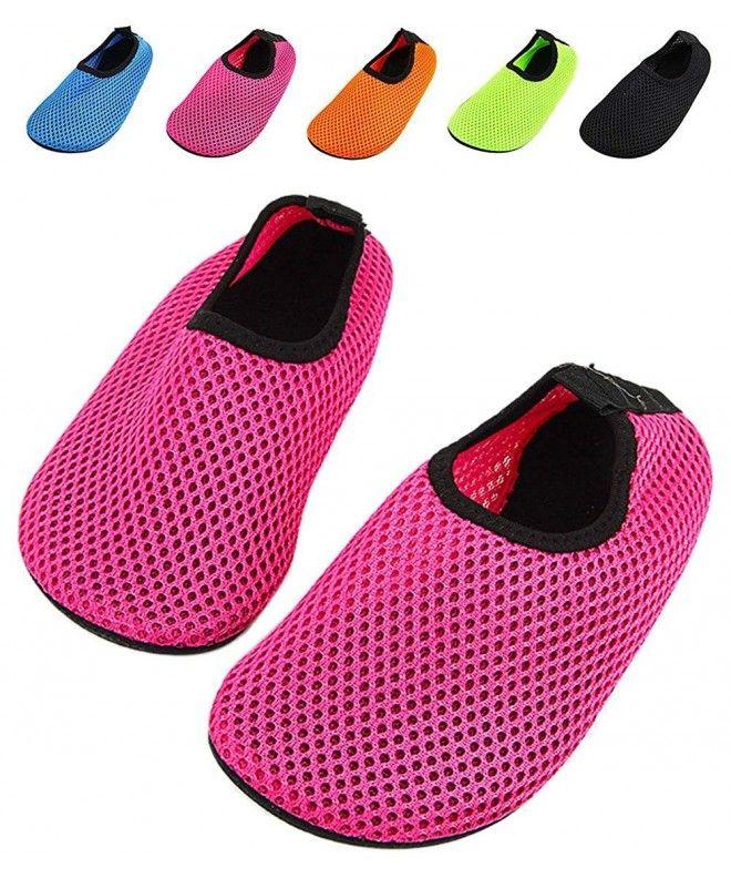 Quick Dry Water Shoes for Kids Boys Girls Beach Pool Aqua Socks - Hot Pink  - CJ17YQMEZ3X   Water shoes for kids, Kid shoes, Aqua socks