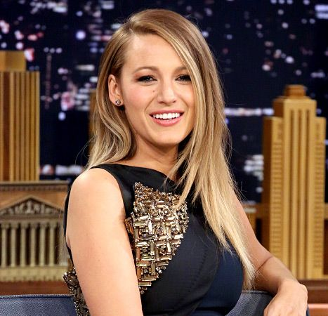 Straight shooter! Lively visited the Tonight Show on April 21 while modeling smooth and sleek locks.
