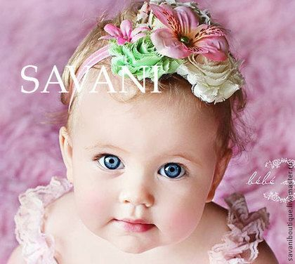 Повязка на голову для малыша девочки - повязка на голову,день рождения