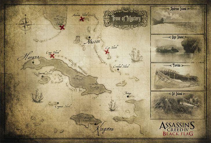 Mapa del tesoro de Assassins Creed 4 Black Flag para PS4