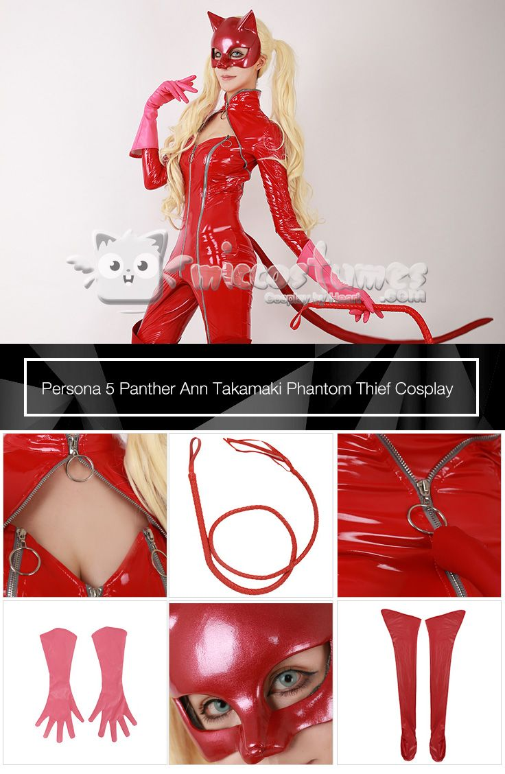 Persona 5 Panther Ann Takamaki Phantom Thief Cosplay Costume Including mask,whip and boots cover sells at Miccostumes  #miccostumes #cosplay #persona5 #anntakamaki #phantomthief #pantheranntakamaki