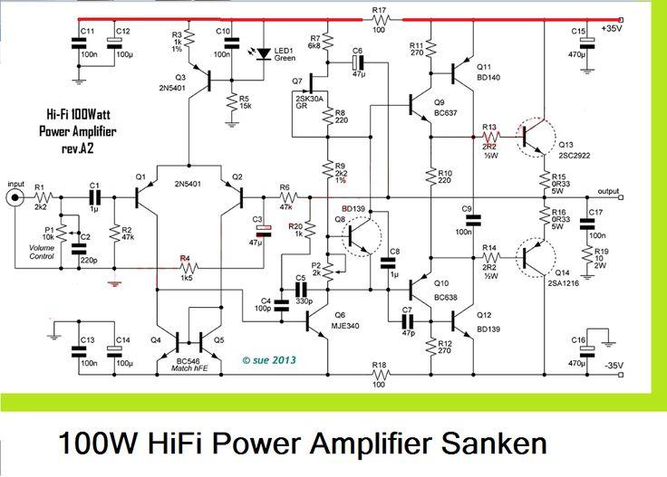 100W Subwoofer Amplifier Circuit Diagram   525 Besten Amplifiers Bilder Auf Pinterest Arduino Diy