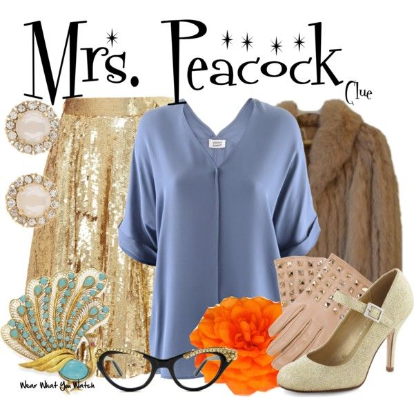Inspired by Eileen Brennan as Mrs. Peacock in 1985's Clue.