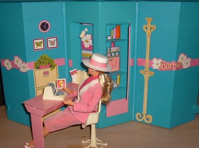 Barbie - Home and Office Playset, 1980s (they just don't make toys as genius as the 80s anymore... mine is rather complete I think)