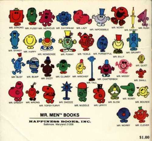 Mr. Men books - The old school ones!