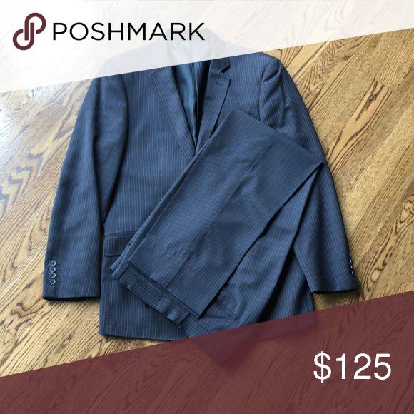 Jos. A Bank men's gray pinstripe suit EEUC classic men's suit Jos. A. Bank Bertolini Suits & Blazers Suits