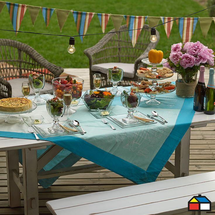 Decoración y estilo al aire libre #mesa #terraza #patio
