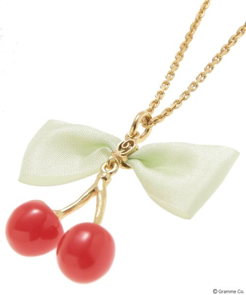 Cherry Syrup Necklace