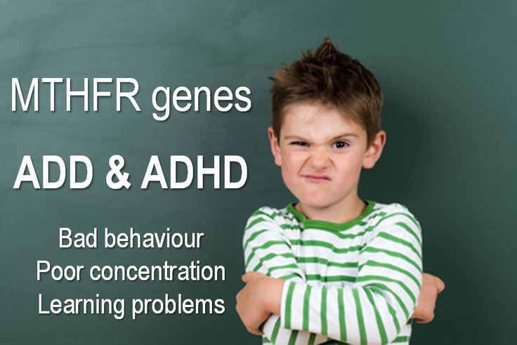 MTHFR gene mutations are genetic disorders that can lead to conditions such as ADD (attention deficit disorder) or ADHD (Attention deficit hyperactivity disorder)
